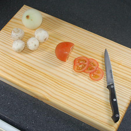 Don't spend a fortune on a pine chopping board when you can make your own for around R80!