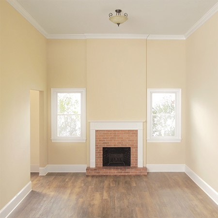 Easy Way to Paint a Fireplace - before