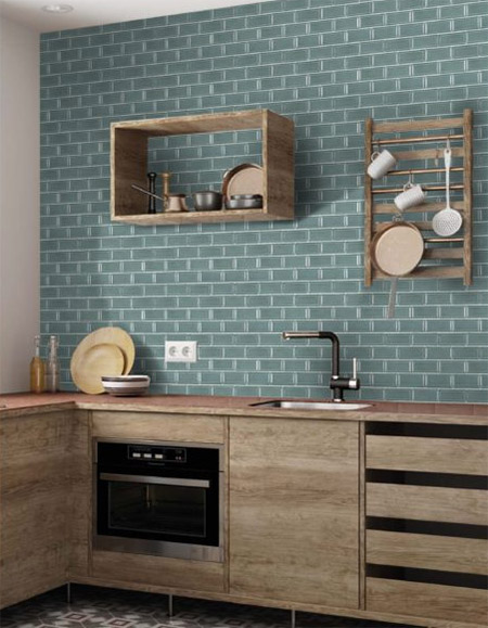 Italtile launches a new range of Mini Porcelain Bevelled Mosaics for use on kitchen splashbacks, shower walls, or for feature walls.