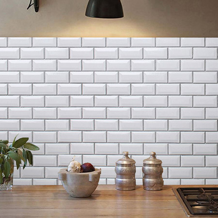Use the mini mosaic tiles to create an eye-catching kitchen splashback