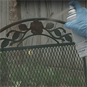 makeover rusty metal garden furniture