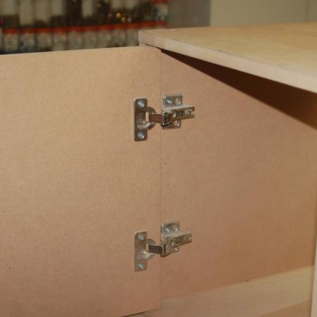 install Gelmar concealed hinges - inset