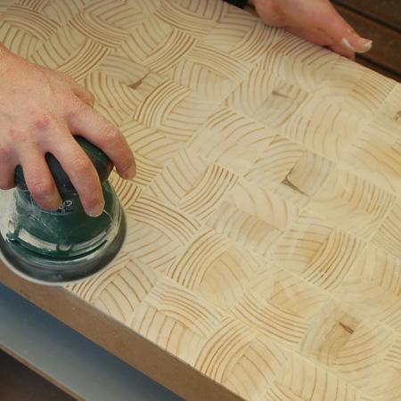 sand wood slices