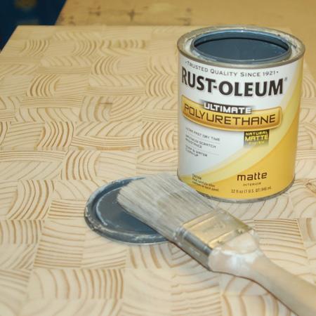 rust-oleum ultimate polyurethane natural matte over wood slices
