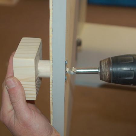 attach handles to door