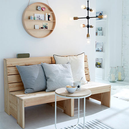 make a pine seating bench for indoors or outdoors