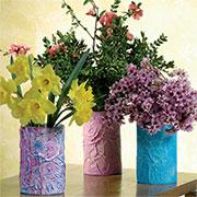 recycled cardboard vases