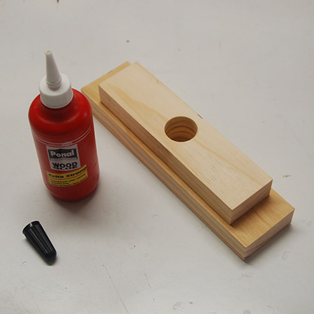 HOME-DZINE | Upholstery Projects - Glue the two blocks together with wood glue.