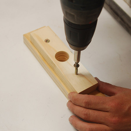 HOME-DZINE | Upholstery Projects - Add a couple of screws to make sure the handle will be safe to use.