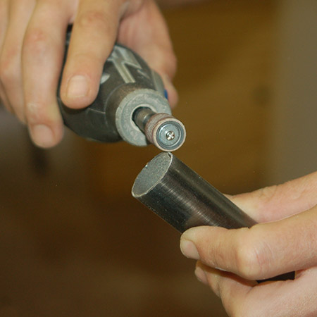 HOME-DZINE | Upholstery Projects - Use a Dremel Multitool to remove any burrs on the cut.