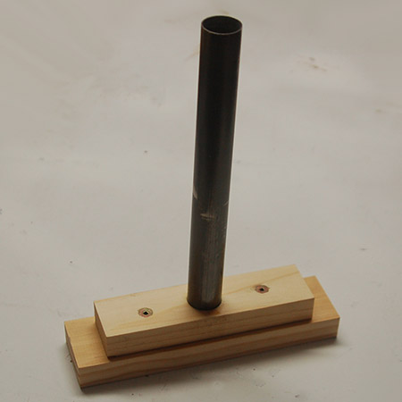 HOME-DZINE | Upholstery Projects - Hole cutting tool assembled.