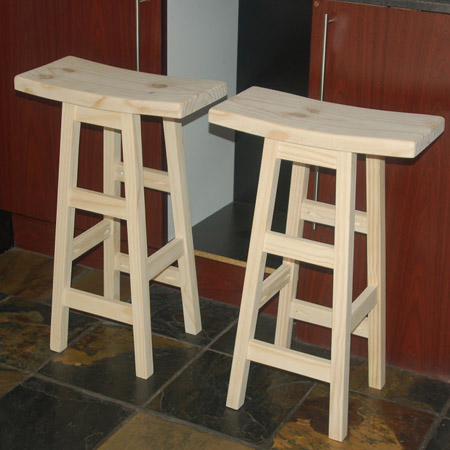 This feature is how I finally made the bar stools, using the same method but with a few refinements, and the base section of the stools differs slightly from that of the Plant Stand