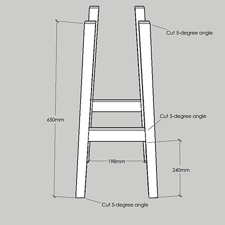 Now you're ready to start assembling the base for your bar stool. Due to the variation in the thickness of pine, it is better to cut the front and back edges (steps) to fit. That will guarantee a sturdy construction.