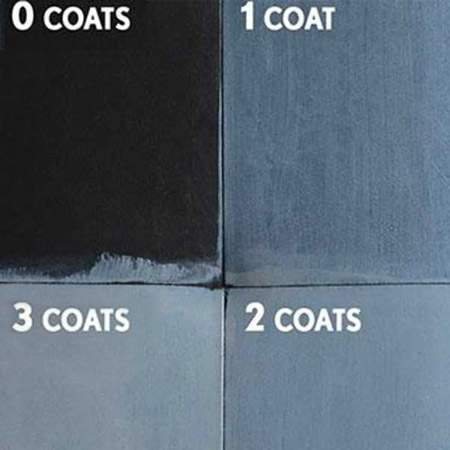 Allow 2 hours drying time between each coat
