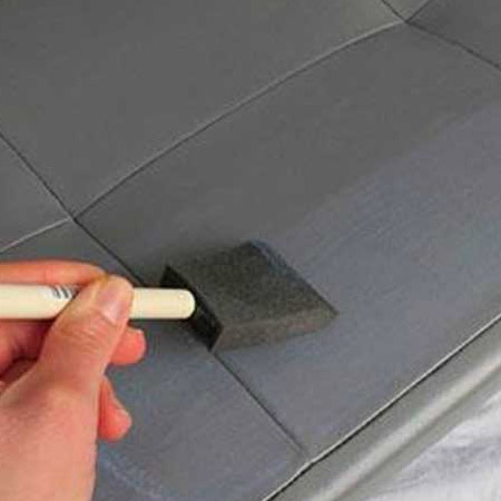 4. Apply a thin layer with a foam applicator