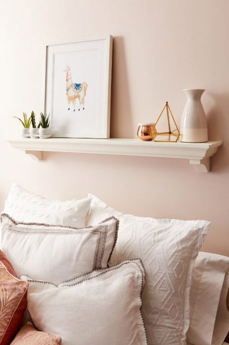 Blushing makeover for a bedroom