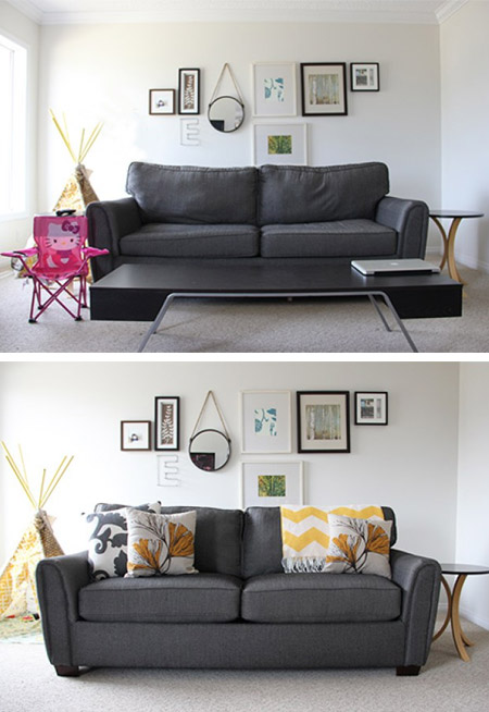HOME-DZINE | Cleaning Tips - Nothing says sad better than a saggy sofa! We'd all love to be able to buy a new sofa every few years, but not many can afford to do so. The best way to fix a sad sofa is to fresh the cushions - seat and back - and give it a good clean.