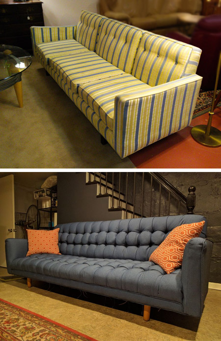 HOME-DZINE | Upholstery Projects - Reupholstering a secondhand sofa, or a sofa that you like but want to give it a new look, is an option to consider if you don't want to spend thousands on a new sofa. Reupholstery also allows you to select the perfect fabric to complement your living space.
