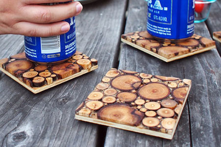 HOME-DZINE | Craft Projects - Next time you do pruning in the garden, put aside some branches to make these wood slice coasters.