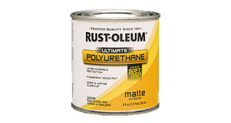 OME-DZINE | DIY Tips - Tough and durable, with the strength of polyurethane - Rust-Oleum Ultimate Polyurethane is water-based and provides a unique, soft texture.