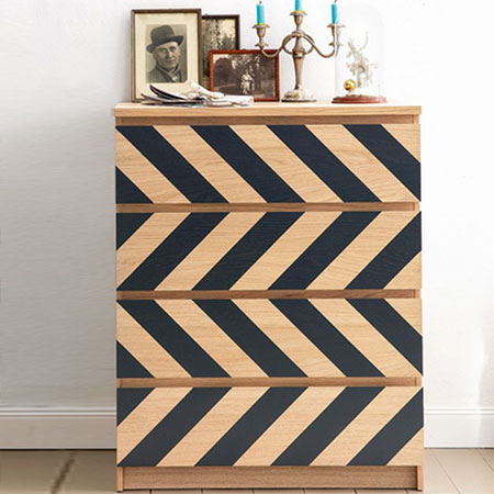HOME-DZINE | Upcycle old furniture - Storage is essential for every home, but it doesn't always match your decor or impart a sense of style. We show you a selection of different ways to dress up a chest of drawers.