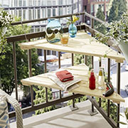 Hanging table for a balcony