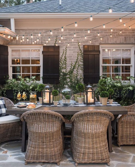 HOME-DZINE | Outdoor Entertaining - You want your garden or patio to be the perfect place to relax on balmy evenings. The varied options for outdoor lighting including sconces that can light up paths or be mounted on walls, post lamps and even string lights - all are a great way to keep your outdoor space lit and inviting.