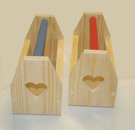 HOME-DZINE | Craft Projects - With Valentine's Day just around the corner I thought it might be nice to do a his and hers project. A tool caddy is handy for carrying your tools around and we made a his and hers tool caddy!
