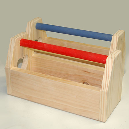 HOME-DZINE | Craft Projects - Our His and Hers Tool Caddy was made using some leftover pieces of pine, and you can make them as small or as large as you want.