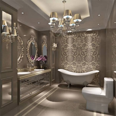 Home dzine bathrooms add luxury to your master bath for Beautiful en suite bathrooms