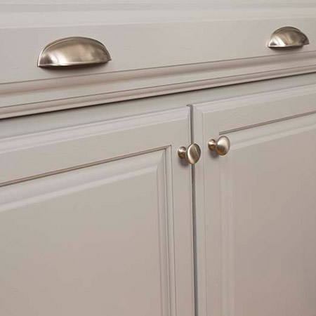 HOME-DZINE | Kitchen Makeover - Finish off your painted kitchen with new hardware that complements the look.