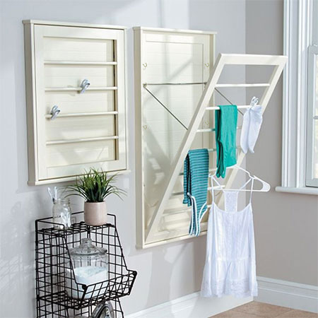 diy pine drying or laundry rack