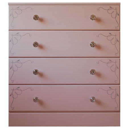 gelmar crystal knobs on chest of drawers