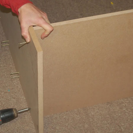 instructions to make chest of drawers