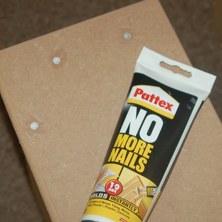 fill holes with adhesive