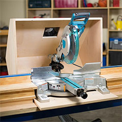 dust hood for mitre saw