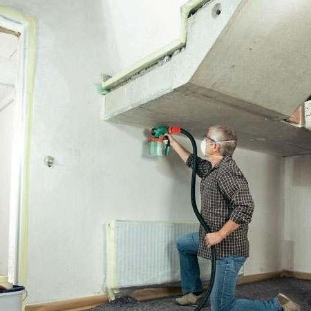 Home Dzine Home Diy How To Spray Paint Interior Walls And Ceilings