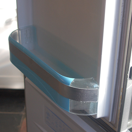 fridge door inserts or crisper drawers repaired with epoxy adhesive