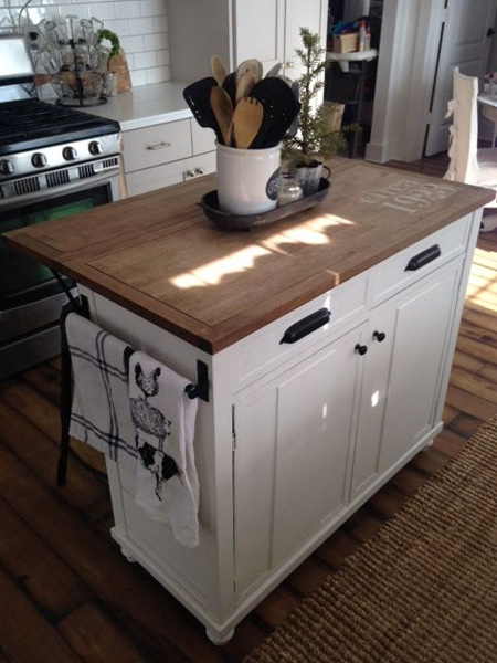 tutorial diy kitchen island