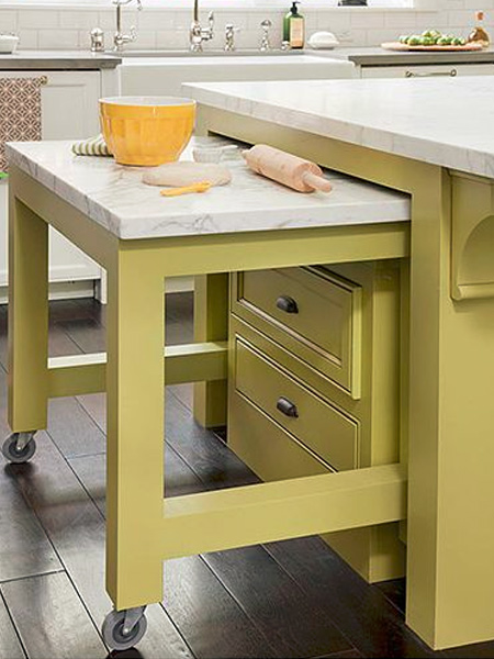 pullout kitchen island