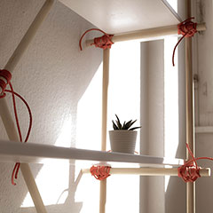 shelf using lashing knots