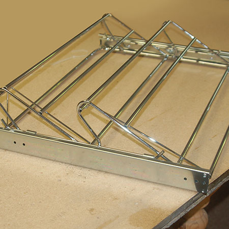 assembled gelmar shoe rack