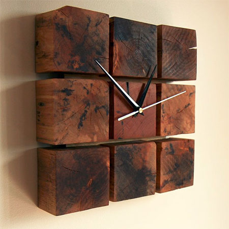 HOME DZINE Craft Ideas | Quick Project: Pallet Wall Clock