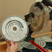 how to change mitre saw blade