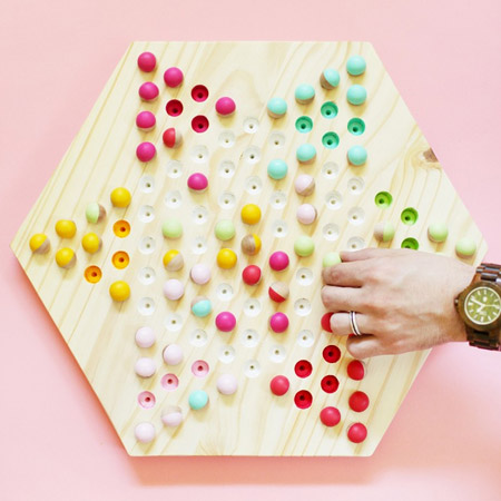 Make a Chinese Checkers board game