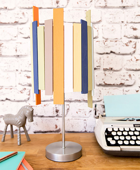 Upcycle a lamp for an inexpensive way to give your decor a boost.