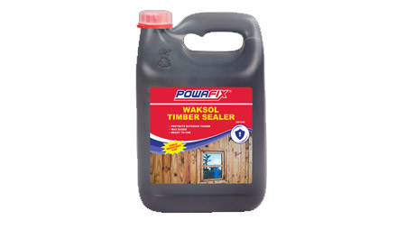 Powafix Waksol is a solvent and wax based timber sealer
