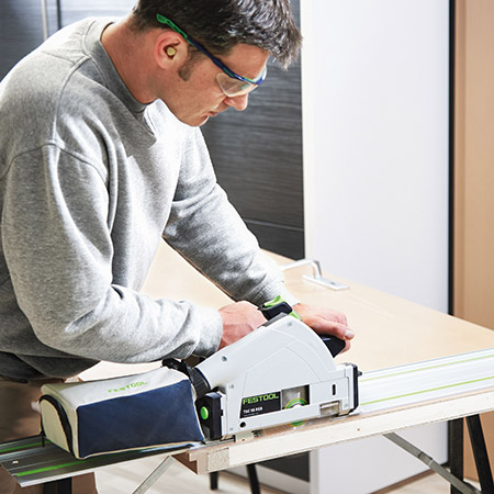 Cordless plunge saw from Festool
