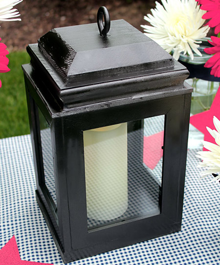 a cheap - and affordable - way to make a decorative wooden lantern