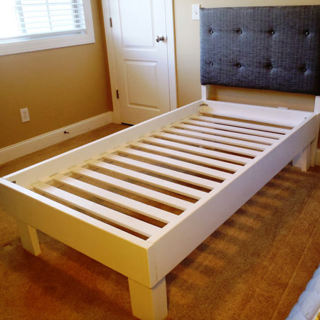 The two beds shown below can easily be assembled in a day.